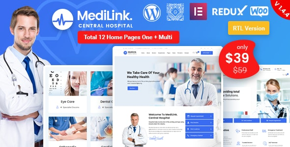 WordPress theme MEDILINK