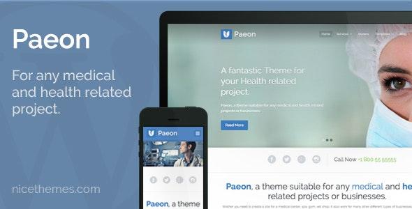 WordPress medical theme PAEON