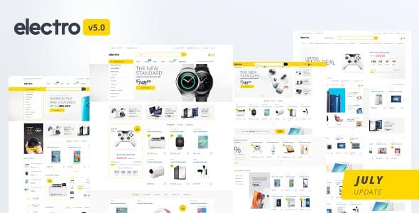 Electro Shopify website theme