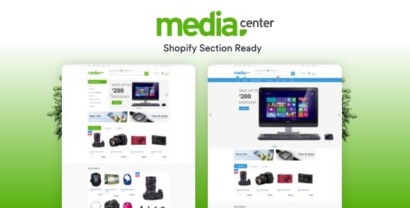 MediaCenter Electronics Shopify theme preview