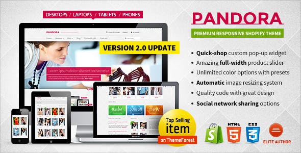 Pandora Shopify theme