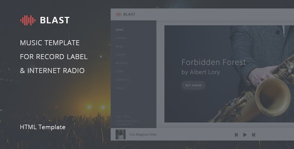 Blast - HTML template for Record label and Internet radio