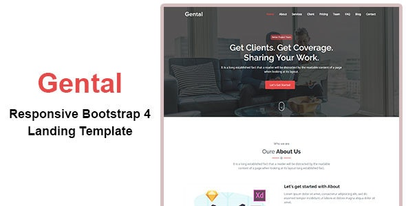 Gental-Bootstrap-theme