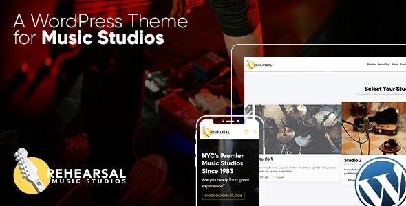 WordPress theme for Music Studios