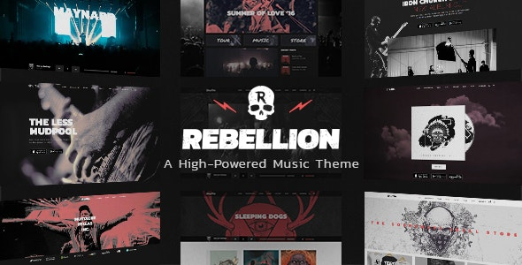 Rebellon - WordPress theme for music bands