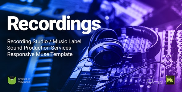 Recording Studio WordPress template