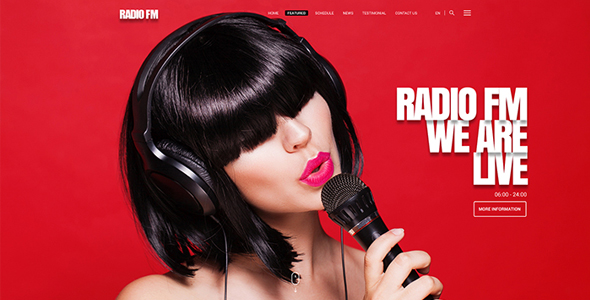 Image - Radio FM website theme