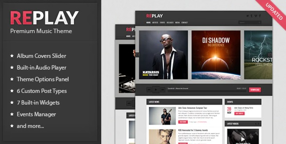 Replay WordPress theme for recording studios