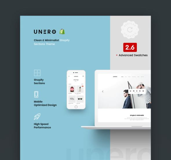 Unero Shopify website theme