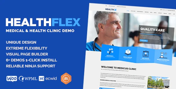 Healthflex Medical WordPress theme