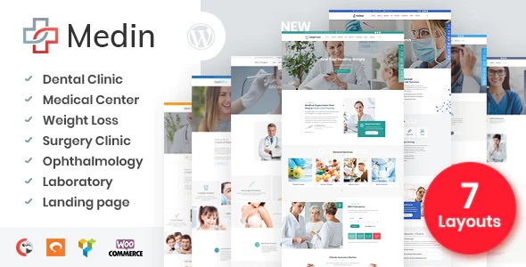 Medical theme Medin for WordPress