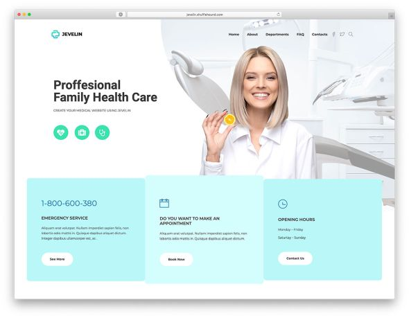 Jevelin Health Care WordPress theme