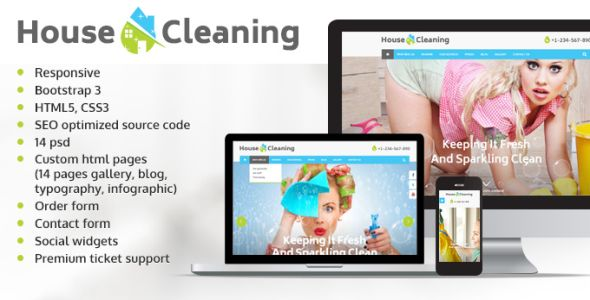 House Cleaning website template
